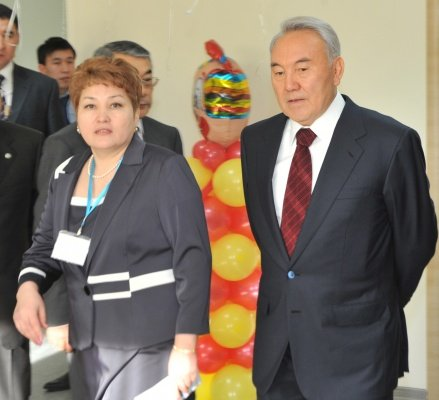 Opening of Karlygash-1 kindergarten with the participation of Elbasy N. Nazarbayev,